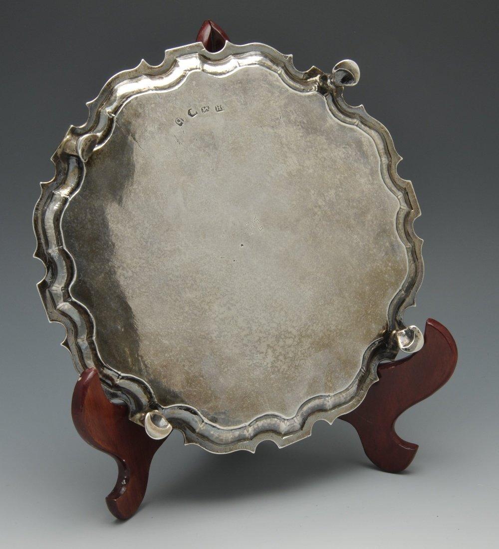 A George II silver salver by George Hindmarsh, London - 2
