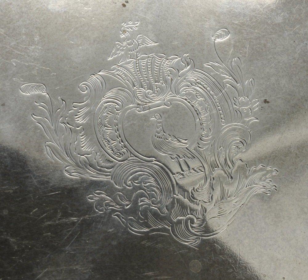 A George II silver salver by George Hindmarsh, London - 4
