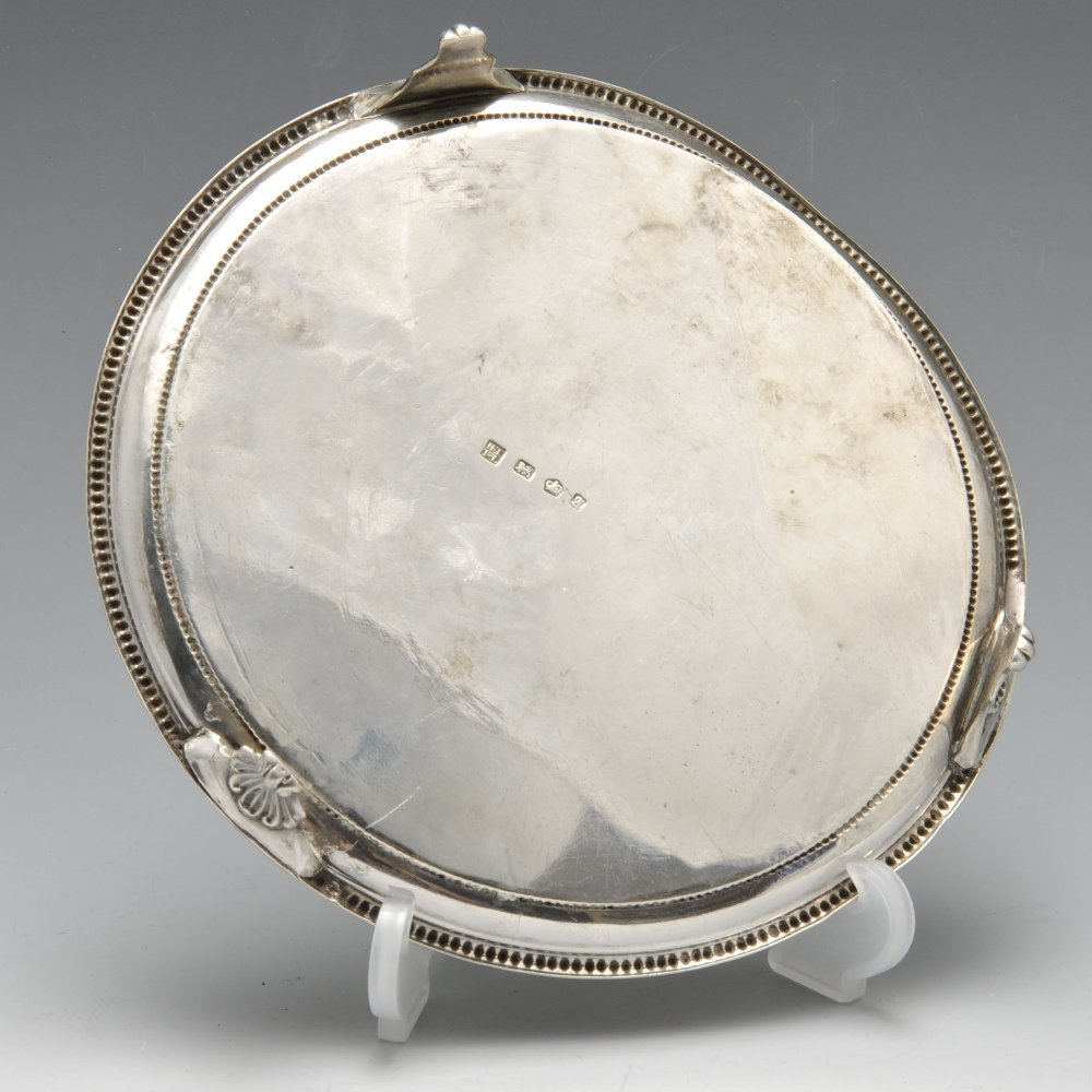 An early George III silver waiter. - 2
