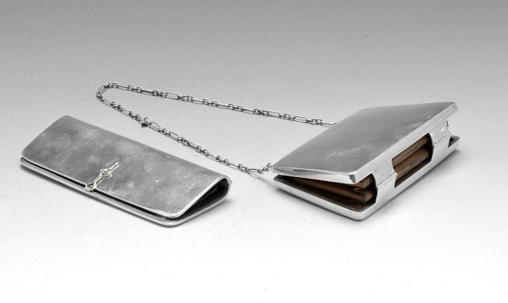 Two early twentieth century silver purses.
