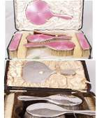 1111 George V six piece dressing table set comprising