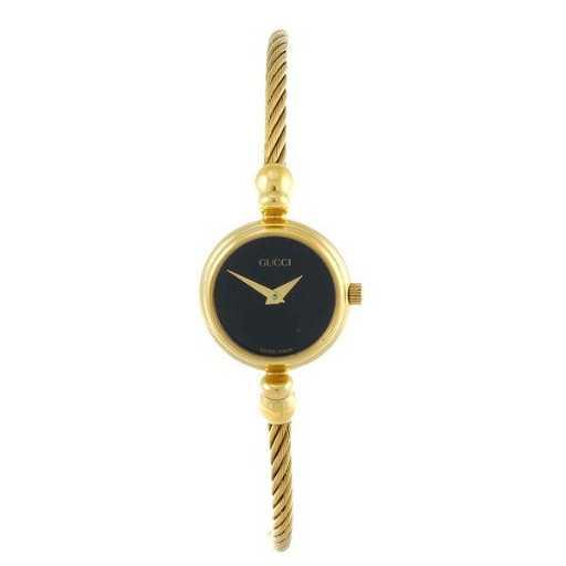 7d3854d3904 GUCCI - a lady s gold plated 2700.2.L bracelet watch.