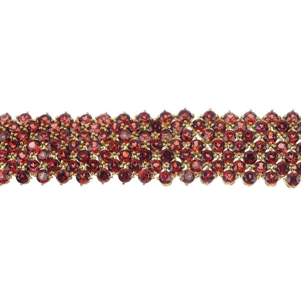 CHATILA - a garnet bracelet.