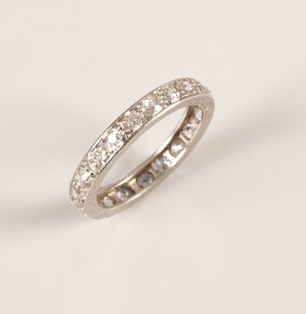 488: A diamond full eternity ring set with twenty three
