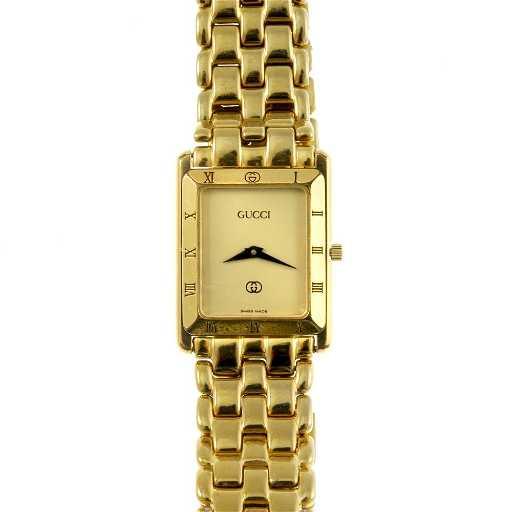5fc832a64d7 GUCCI - a gentleman s gold plated 4200M bracelet watch