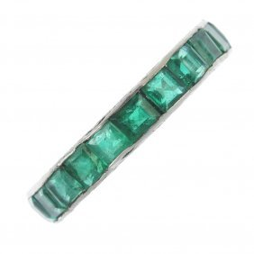 An Emerald Full-circle Eternity Ring.