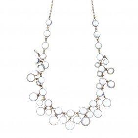 A Moonstone Fringe Necklace.