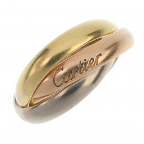 Cartier - An 18ct Gold 'trinity' Ring.