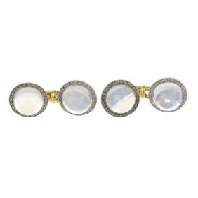 A Pair Of Early 20th Century Moonstone And Diamond