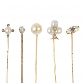 A Selection Of Five Stickpins.