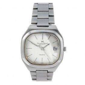 Iwc - A Gentleman's Bracelet Watch. Stainless Steel