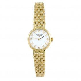 Longines - A Lady's Prestige Bracelet Watch. 18ct