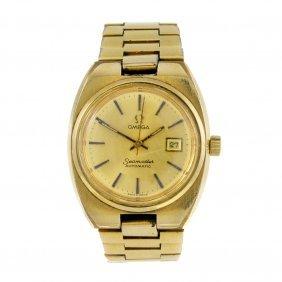 Omega - A Lady's Seamaster Bracelet Watch. Gold Plated