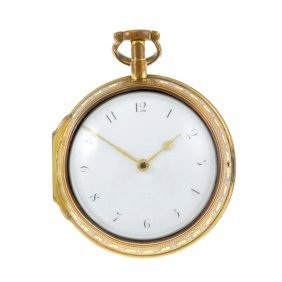 A Pair Case Pocket Watch By Dwerrihouse. Gilt Cases,