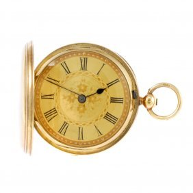 A Full Hunter Pocket Watch By W.edgar. 18ct Yellow Gold