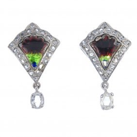 A Selection Of Three Pairs Of Earrings. To Include A
