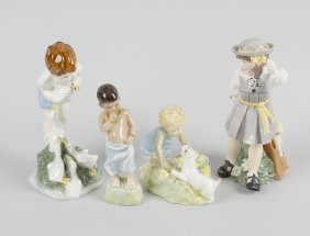 Four Royal Worcester Figures, To Include Burmah, Two