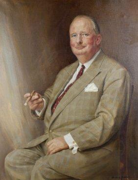 Denis Fildes (1889-1974)three-quarter Length Portrait