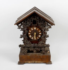 A Black Forest Cuckoo Mantel Clock, Circa 1900, The