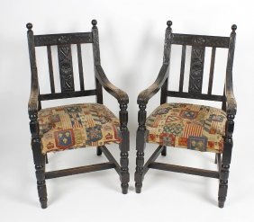 A Mixed Collection Of Furniture, To Include A Pair Of