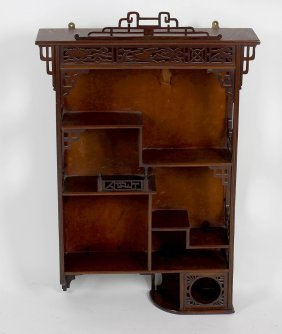 An Early 20th Century Mahogany Open Wall Shelf, Of