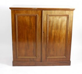 A Late 19th Century Mahogany Linen Press Cupboard, The