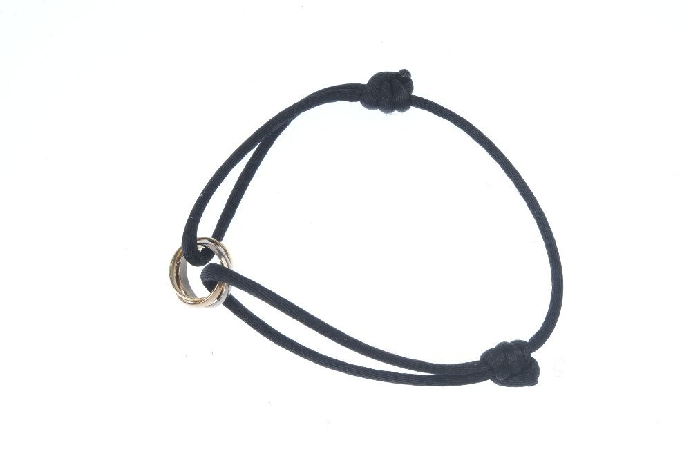 CARTIER - a 'Trinity' bracelet. Of tri-colour design, - 2