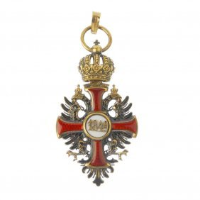 A Mid 19th Century 18ct Gold Enamel Austrian Order Of