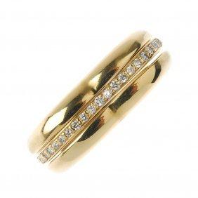 Links Of London - An 18ct Gold Diamond Heart-shape