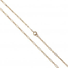An Early 20th Century Gold Chain. Designed As A Series