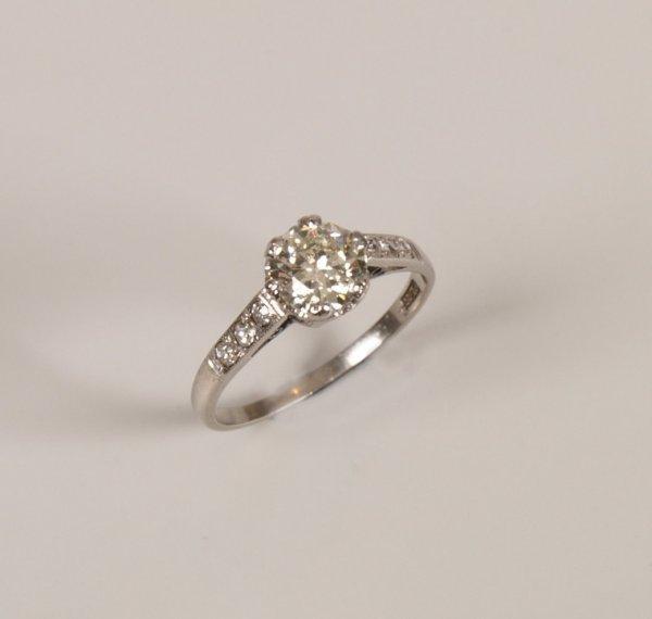 6: Platinum single stone round brilliant diamond set ri