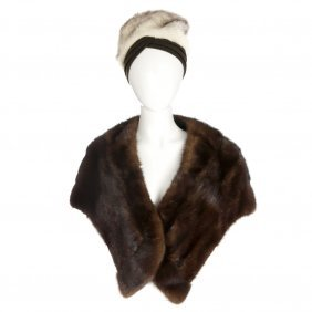 A Mink Stole And A Mink Hat. The Ranch Mink Stole,