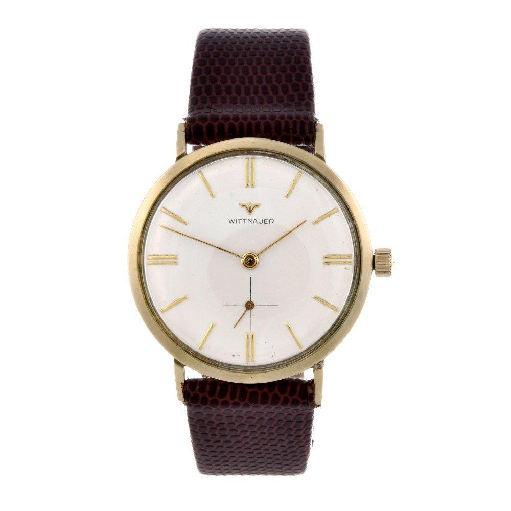 WITTNAUER - a gentleman's wrist watch. Gold plated