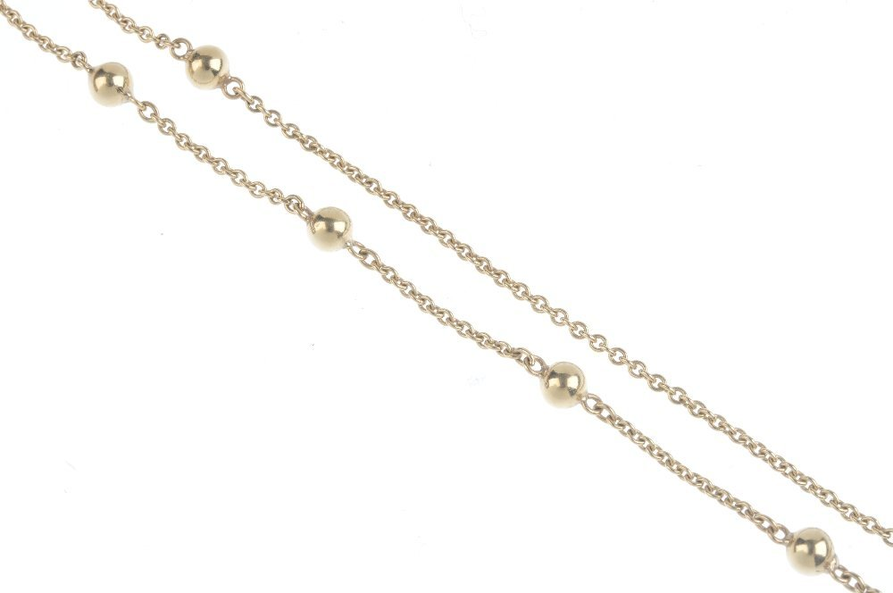 Two 9ct gold chains. The first designed as a series of - 4