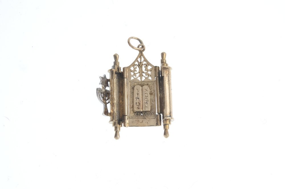 Two 9ct gold Torah charms. To include a torah charm, - 3