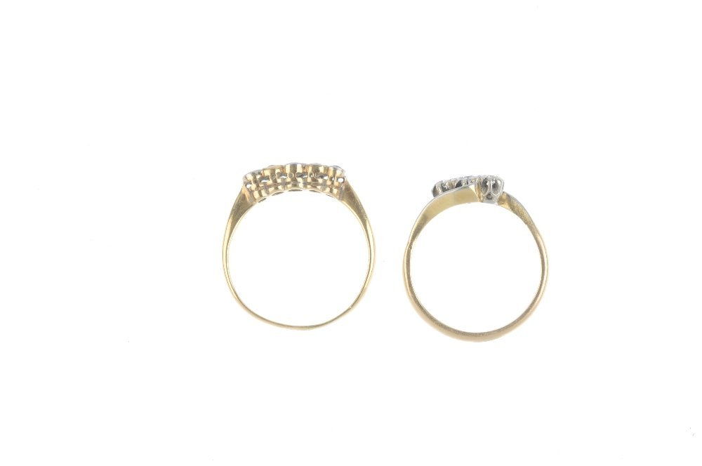 Two early 20th century platinum and 18ct gold diamond - 2