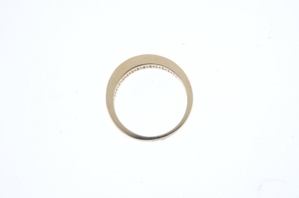 A 14ct gold diamond half-circle eternity ring. The - 2