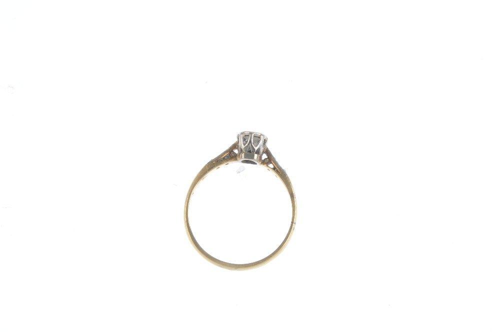 A diamond single-stone ring. The circular-cut diamond, - 2