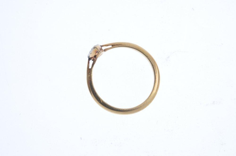 A mid 20th century 18ct gold diamond dress ring. Of - 2