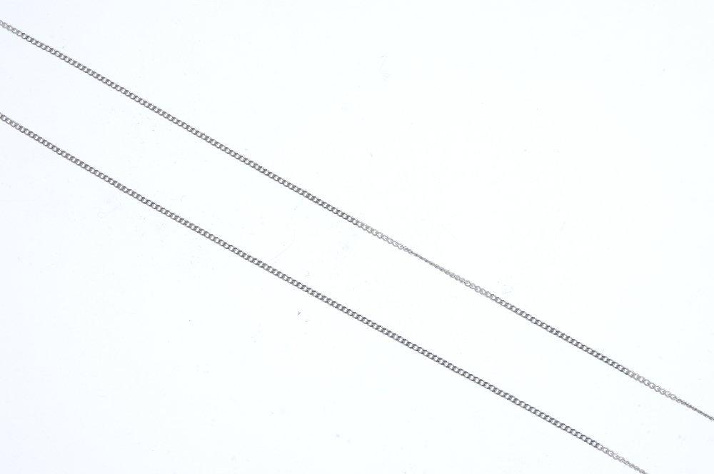 An 18ct gold diamond pendant. The pave-set diamond - 3