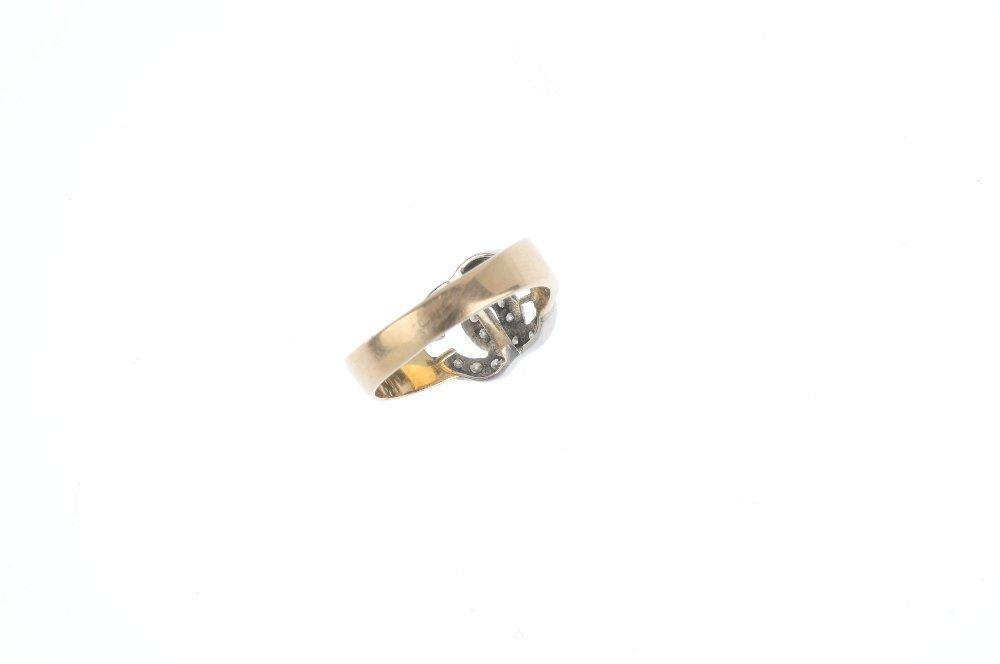 A diamond dress ring. Of bi-colour design, the two - 2