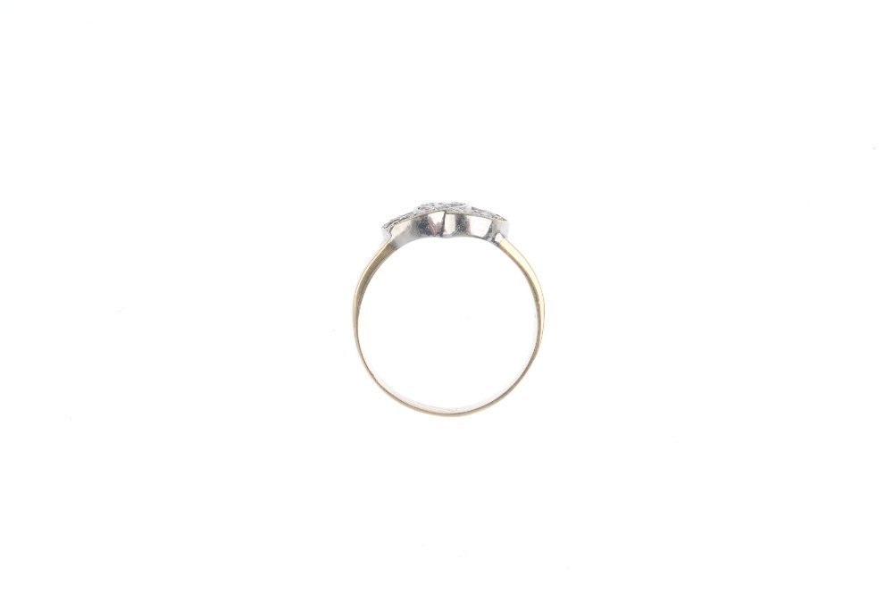 A diamond dress ring. Of bi-colour design, the two - 3