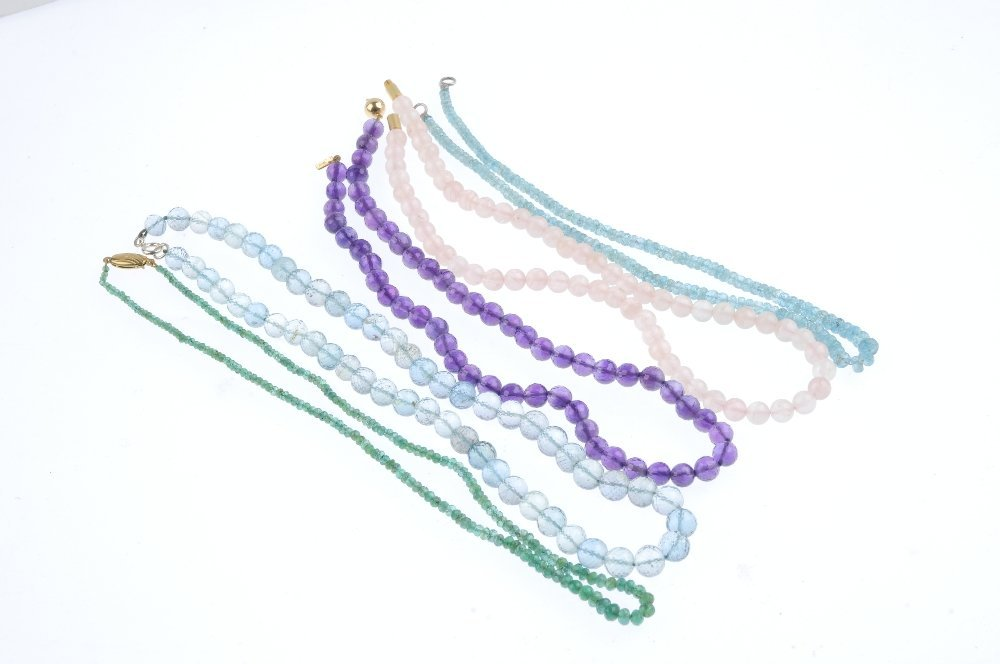 A selection of bead necklaces. Each designed as a - 2