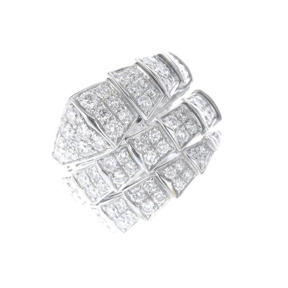 (543542-1-A) BULGARI - a diamond snake ring. Designed