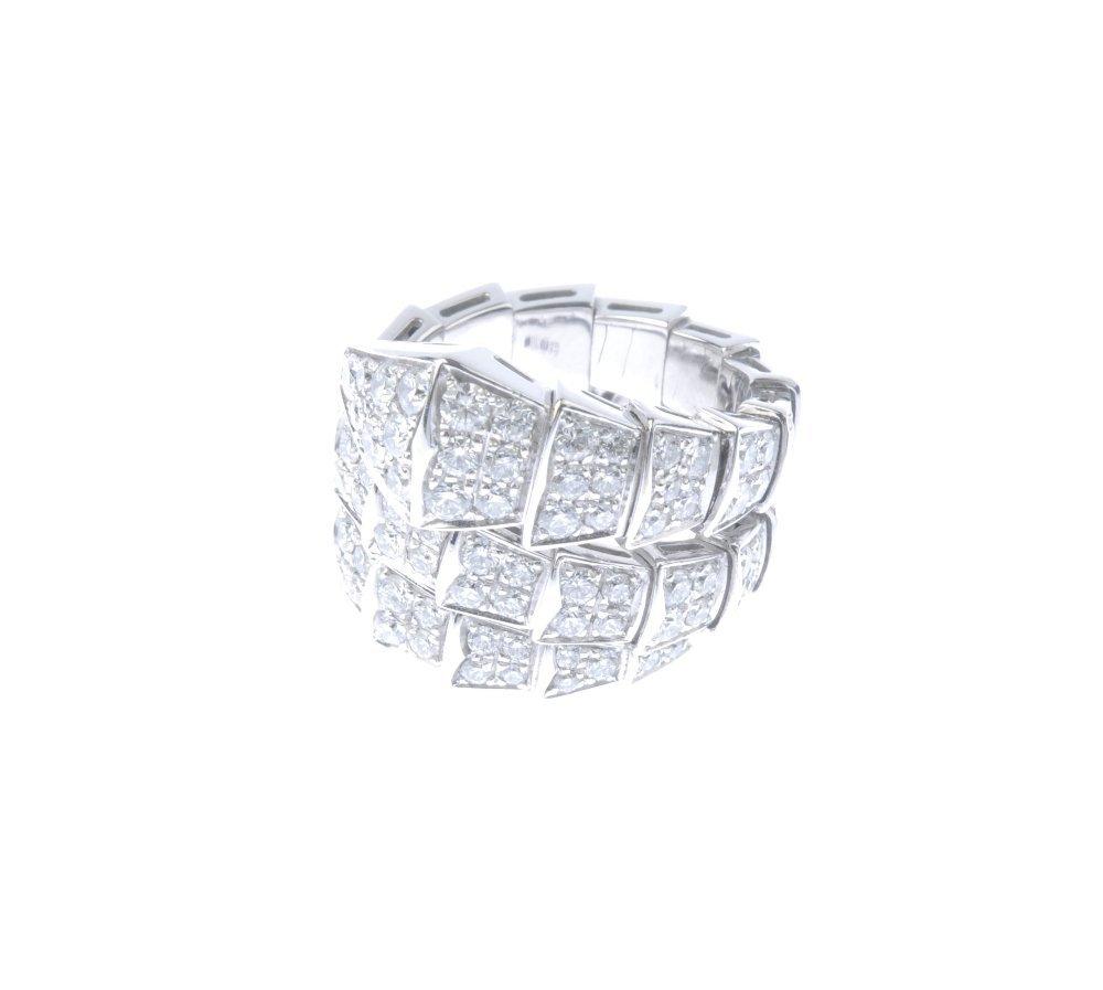 (543542-1-A) BULGARI - a diamond snake ring. Designed - 2
