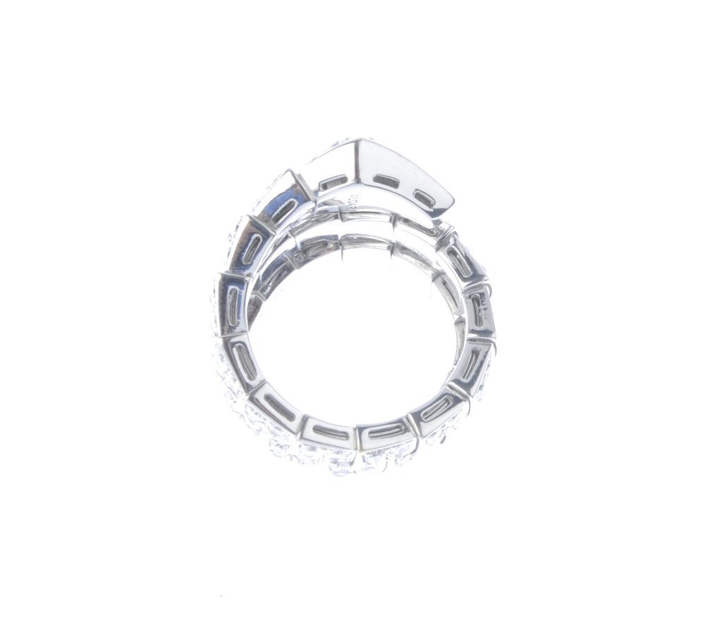 (543542-1-A) BULGARI - a diamond snake ring. Designed - 3