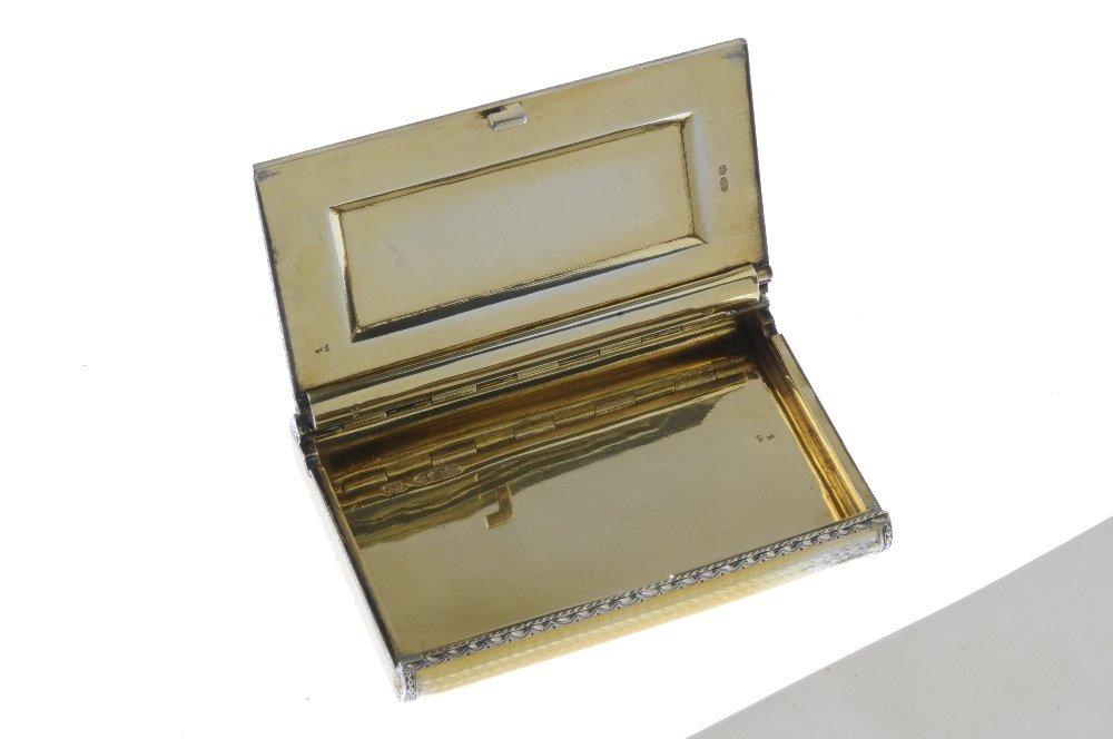 (545050-1-A) A 1920s silver gilt guilloche enamel case. - 3