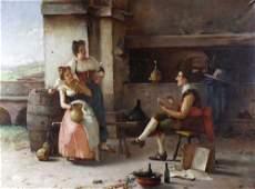 Giuseppe Bortignoni, (Italian, 1778-1860) The artist at
