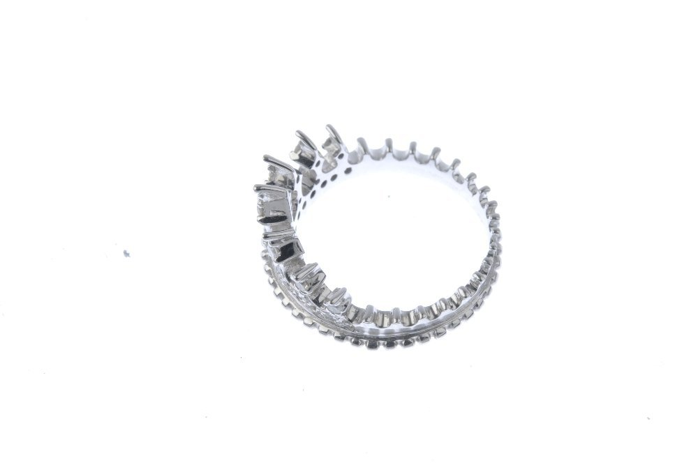 An 18ct gold diamond dress ring. Designed as a circular - 3
