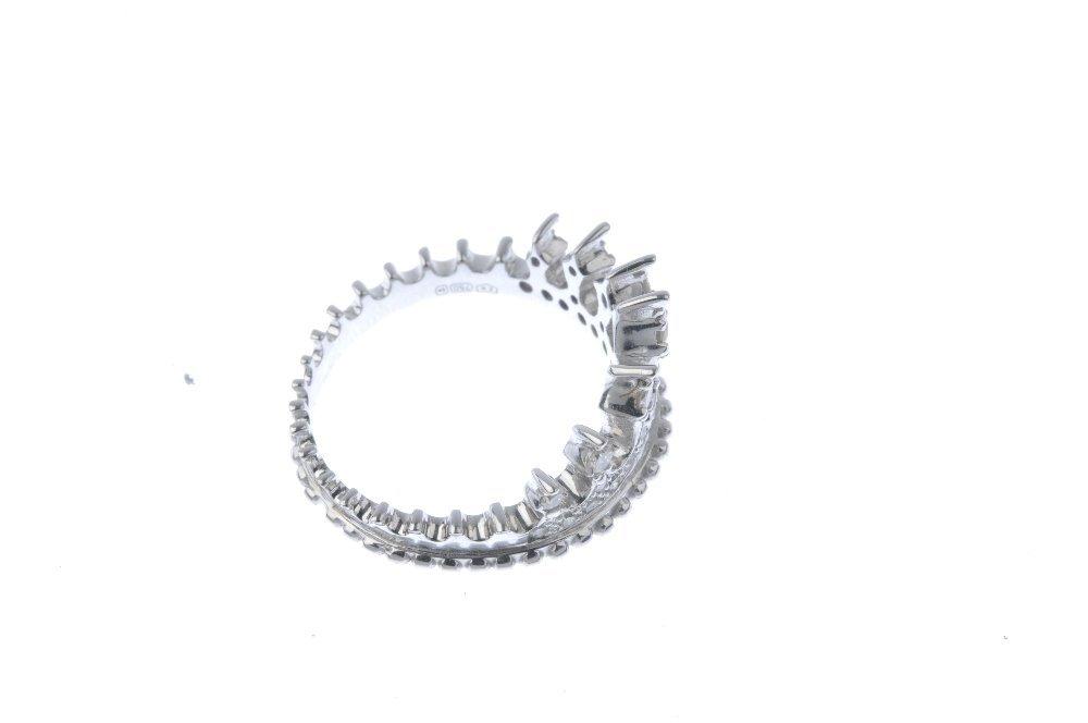 An 18ct gold diamond dress ring. Designed as a circular - 4